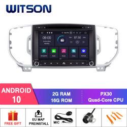 De vierling-Kern van Witson Androïde GPS van de 10 Auto DVD voor KIA Sportage 2016 Ingebouwde Functie DVR
