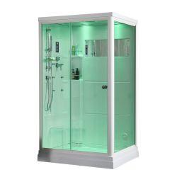 샤워실을%s 가진 백색 아크릴 소형 장방형 증기욕