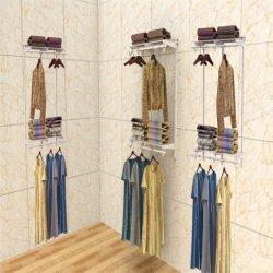 4 -6' '' ' Dormitorio Armario multifunción de Metal Kit estante de pared para la ropa y zapatos