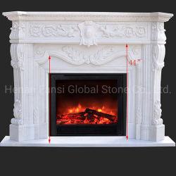 Personalizar la piedra de mármol blanco de sonido envolvente de Mantel chimenea (GSMF-173)