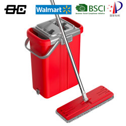 Banheira de venda de produtos de limpeza doméstica esfregona plana com caçamba