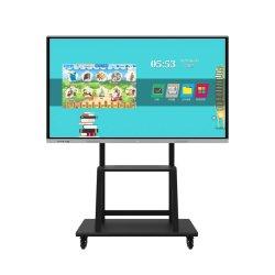 """Ecran LCD 65"""" 86"""" 98"""" 110"""" pour fournitures de bureau tout-en-un Tableau blanc interactif à écran tactile SmartBoard OPS PC"""