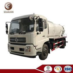 Camion cubico di vuoto della fogna del tester di Dongfeng Kingrun 10, camion settico di aspirazione 10000liter con la doppia pompa
