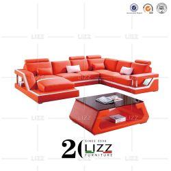 Maison moderne coin canapé en cuir de loisirs de mobilier pour la salle de séjour