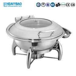 Heavybaoの高品質のビュッフェはステンレス鋼の誘導の食糧ウォーマーの円形の摩擦皿に用具を使う