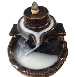Bruciatore a flusso di ritorno in ceramica decorativo artigianale in porcellana