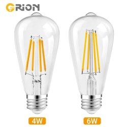 CE-goedkeuring St64 110V 230V LED Edison gloeilampen 2200K Amber Kleur
