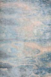 Novo design do tapete tapetes artesanais tapetes azuis de fibra de bambu tapete