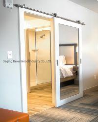 Белые воды на основе лакированная полного Lite зеркальной боковой сдвижной двери фейрли питания в отеле Hampton Inn с помощью стандартного размера (38-1/2 дюйма*84дюйма) без VOA