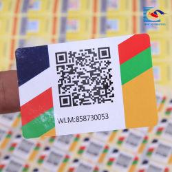Custom Самоклеющиеся упаковочный лист рулона бумаги для печати переменной восстановления кода QR липкие наклейки