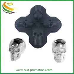 Logotipo personalizado impresso da forma do crânio do molde de gelo de silicone / Borracha Bandeja cubos de gelo /Bolo de Silicone Moldfor Parte