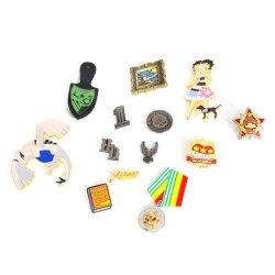 형식 금 새 선전용 선물 접어젖힌 옷깃 Pin 기장을%s 주문 금속 기장