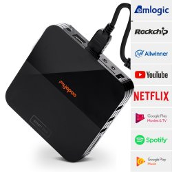 Diseño único Android TV Box para Amlogic Rockchip Allwinner Soc con Android 9.0 Kodi IPTV Decodificador.