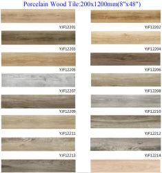 Mattonelle di ceramica della porcellana di legno rustica di sguardo per il materiale da costruzione del pavimento