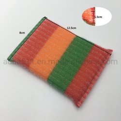 Esfregões de limpeza de louça de cozinha esponja elástico colorido