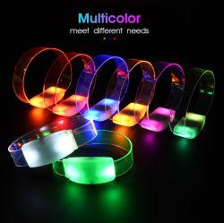Bougies LED personnalisé dans l'obscurité Bracelet Bracelet Flash Concert d'éclairage