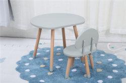 Hölzerne Pilz-Form-Kinder, die den Kind-Tisch und Stuhl eingestellt für Verkauf zeichnen