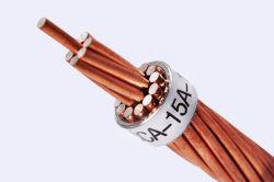 Tambour en bois de brin de fil en acier plaqué de cuivre pour ligne d'électricité