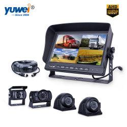 7 Quad монитор беспроводной камеры заднего вида для автомобилей, ферма трактора, культиватор, прицеп, автобусы