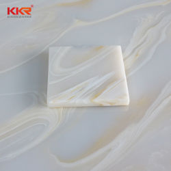 Piedra artificial de imitación de acrílico translúcido Onyx ducha el panel de pared