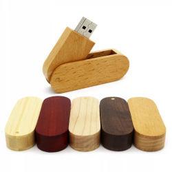 木USBのフラッシュ駆動機構のPendrive 8GB 16g 32GB 64GBの旋回装置のメモリ棒の結婚式はギフトを取り除く