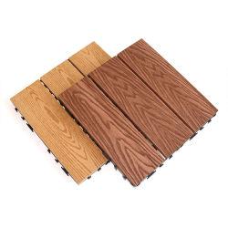 Campione gratuito WPC esterno giardino cortile legno plastica composito laminato Tile da pavimento in coestrusione WPC con interblocco per ponti fai da te