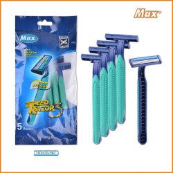 Резиновых и пластмассовых смешанных ручку 3 Blade одноразовые бритвы