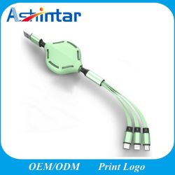 2020 nuovo disegno 3 in 1 cavo di carico della carica del USB di alta qualità del cavo di dati di multi funzione velocemente