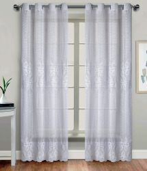 Carrinho de poliéster Fabric com cortina bordada moda