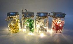 Weihnachtsglasflasche mit Kurbelgehäuse-Belüftung entfernt LED-Licht