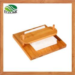 Distributeur de tissus de bambou porte-papier Porte-serviette
