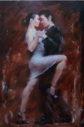 油絵2のダンスのカップル