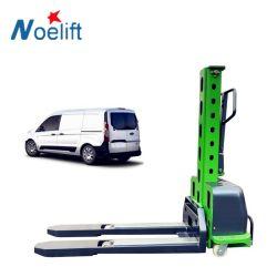 Entrega rápida 1m de altura 0,5T Auto Empilhador para elevação do Coco-Cola Van/camião/carro