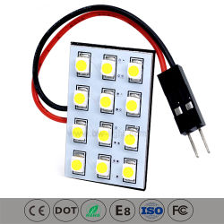 Lâmpada automático LED carro a Luz do Teto (PCB-012Z3528)