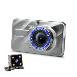 4.0 インチ FHD 1080p カーダッシュデュアルカム、フロントおよびリア、ワイドアングルダッシュカメラ、カー DVR 、 WDR 、 G センサー、パーキングモニター、 モーション検出、ループ記録 Esg12911