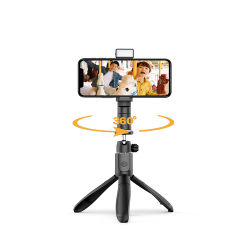 Nouveau produit Multi - fonction 360 suivi d'éclairage à distance sans fil Selfie Stick trépied