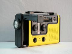 Crank Dynamo Lampe de poche solaire portable radio, chargeur pour Nokia, Samsung, autre téléphone mobile