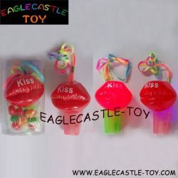 Drôle d'éclairage de la bouche de sifflet de bonbons cadeaux promotionnels (CXT13708)