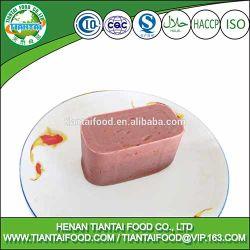 La exportación de carne de vacuno de carne enlatada almuerzo