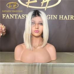 شعر برازيلي/هندي عذراء/ريمي بشعر كامل/أمامي لاسي بوب مستعار #1b/613 لون