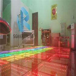 Под руководством пола наружного зеркала заднего вида 3D магнитных свадебного танца Напольный светодиодный