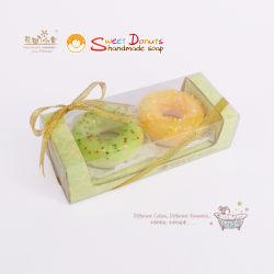 De Met de hand gemaakte Zeep van de Doughnut van het Suikergoed van de suiker in de Doos van de Gift