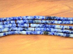 Usine de gros tube Sodalite naturelles lâche de perles Bijoux Perles cylindriques
