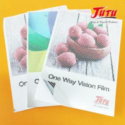 فيلم مقاوم للمياه Perforated Film One Way Vision Vinyl مع فيلم واحد الاتصال المرئي الجانبي
