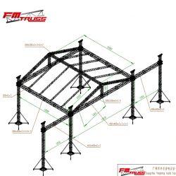 12X10m do teto de alumínio Truss 300x300mm box truss com canópia