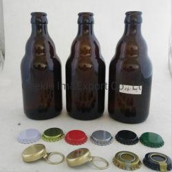 bernsteinfarbige 330ml Bierflaschebrown-Bären-Bier-Glasflasche