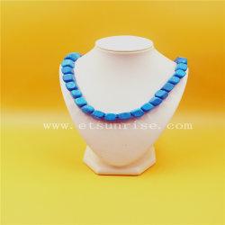 Il quadrato borda la collana fatta del turchese naturale puro di Stablized