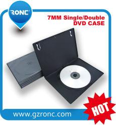 양호한 잠금 필름이 있는 7mm 싱글 블랙 DVD PP 케이스 CD 케이스