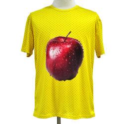 Maglietta piena del poliestere 3D della maglia di stampa di sublimazione su ordinazione