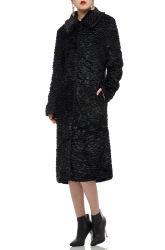 L'interdiction2006-0216 Brown MIDI-Longueur Longueur genou femmes manteau chaud en hiver